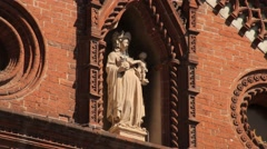 Monza, Italy. Church Statue Virgin Mary Stock Footage