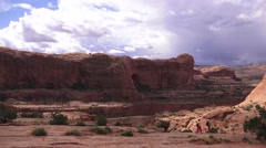 Hikers in the great outdoors, ARCHES NATIONAL PARK Stock Footage