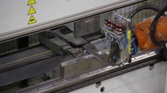 Close-up of Bending Robot Stock Footage