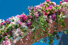Detail of  beautiful flower arch - stock photo