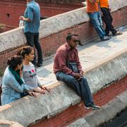 KATHMANDU, NEPAL-APRIL 25: The Pashupatinath Temple 25, 2016 in Kathmandu, Ne - stock photo
