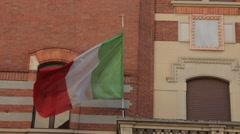 Monza, Italy. Italian Flag  Stock Footage