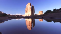 Water reflectinig ,ARCHES NATIONAL PARK Stock Footage