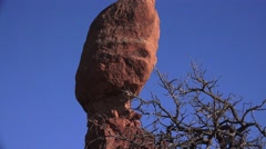 ARCHES NATIONAL PARK, Balanced Rock Stock Footage