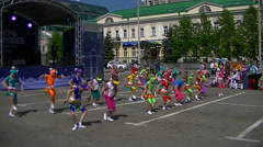 Russia - Yekaterinburg - children dancing - May  Stock Footage