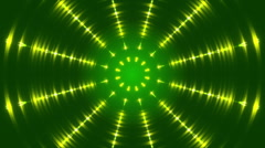 green abstract background, gold light and ray and particles, loop - stock footage