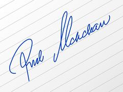 Signature Stock Illustration