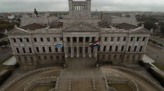 Palacio Legislativo, meeting place of the Uruguayan Parliament, Montevideo Stock Footage