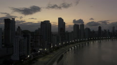 Aerial Image of Balneário Camboriú BC Beach Sunset 001 Stock Footage