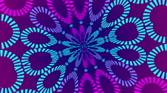 blue and purple abstract background, particles, loop - stock footage