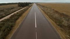 Aerial view of runway Stock Footage