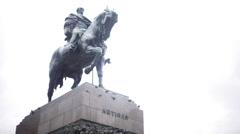 Jose Gervasio Artigas monument and mausoleum, Plaza Independencia, Montevideo Stock Footage