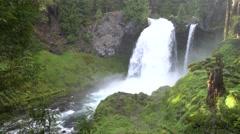 Sahalie Falls, Wilamette National Forest, Oregon Stock Footage