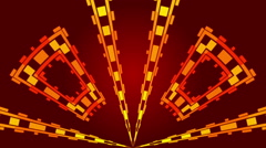 Red abstract background and rectangles , loop Stock Footage
