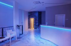 Modern Hotel Reception Interior - stock photo