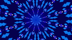Blue abstract background, kaleidoscope , loop Stock Footage