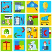 Set elements business businessman, gadgets, gramophone, money - stock illustration