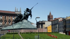 Monza Time Lapse - Piazza Trento e Trieste Stock Footage