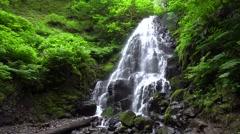 Fairy Falls, Columbia River Gorge National Scenic Area, Oregon Stock Footage