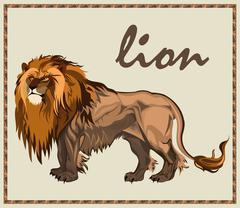 Beast Lion isolated Stock Illustration