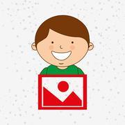 Children and technology design Stock Illustration
