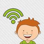 Children and technology design - stock illustration