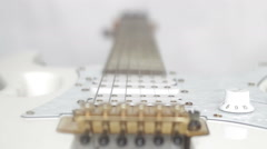 Guitar with strings close-up Stock Footage
