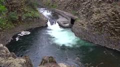 Punchbowl Falls, Dee, Oregon Stock Footage
