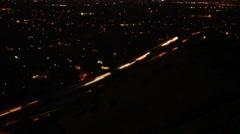 Time lapse shot of traffic on road Stock Footage
