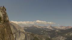 Mountains in Yosemite National Park, California, USA Stock Footage