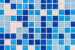 blue tile grid - stock photo