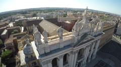 S. Giovanni Square Rome - Piazza S.Giovanni Roma - Close Up Top of the Church Stock Footage