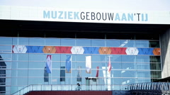 Muziekgebouw aan 't IJ in Amsterdam, Netherlands Stock Footage