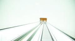 Descending escalator Stock Footage