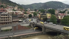 View to Tbilisi City Stock Footage
