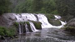 Dougan Falls, Skamania County, Washington Stock Footage