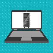Data storage design Stock Illustration