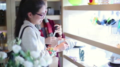 Women shopping together in store - stock footage