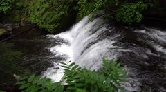 Dutchman Falls, Columbia River Gorge National Scenic Area, Oregon Stock Footage