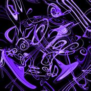 abstract music, notes, background, beautiful banner wallpaper design illustra - stock illustration