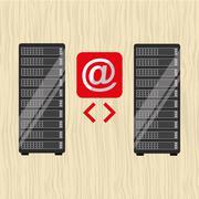 data storage design - stock illustration