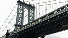 Manhattan Bridge, New York City, New York, USA Stock Footage