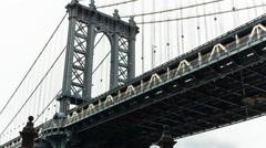 Manhattan Bridge, New York City, New York, USA - stock footage