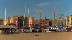 Amusement Park at Coney Island, Brooklyn, New York City, New York, USA Stock Footage