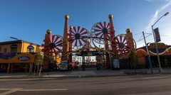 Amusement park in Coney Island, Brooklyn, New York City, New York, USA Stock Footage