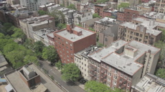 Bird's eye view of city Stock Footage