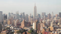 Empire State Building towering above sprawling New York City landscape Stock Footage