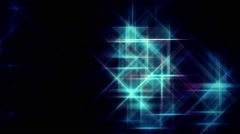 Digital Blue Grid Stars Flying Background - stock footage