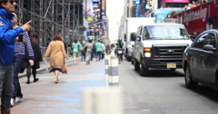 Busy streets and sidewalks of New York City, New York, USA Stock Footage