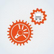 search engine optimization design - stock illustration